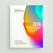 vibrant abstract book cover page vector design