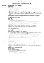 Executive Receptionist Resume Samples Velvet Jobs