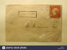 the mauritius post office one penny red stamp on the envelop one of bayswater post office