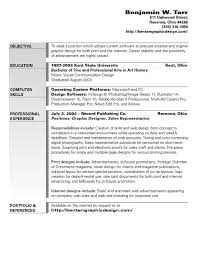 Resume Objective For Graphic Designer Graphic Design Objective Resume httptopresumegraphic 2