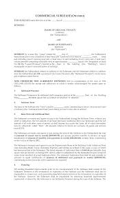 Basic Sublet Agreement Sublet Agreement Template Bamboodownunder 17