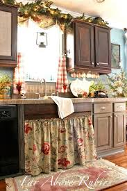 diy country kitchen ideas pinterest. diy farmhouse kitchen update ~ love the curtains and sink skirt! diy country ideas pinterest k