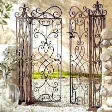 metal garden gates wrought iron garden gate unique metal garden gates two wings wrought iron garden metal garden gates