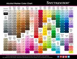 Free Printable Spectrum Noir Color Charts Coloring And