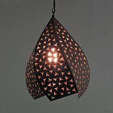 appealing punched tin lighting and rustic tin hanging twisted light fixture