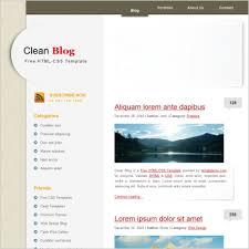 Blog Website Templates Inspiration Clean Blog Free Website Templates In Css Js Format For Free