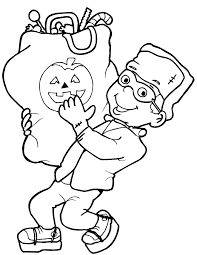 Boy Halloween Coloring Pages Halloween Arts