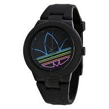 adidas aberdeen black dial black rubber strap men s watch adh3014