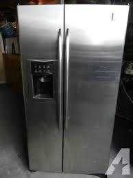 similiar older ge profile refrigerator keywords real nice ge profile arctica stainless steel side x side refrigerator