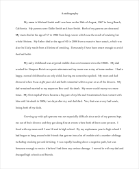 autobiography example premium templates brief autobiography example