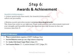 awards for resume resume awards and achievements for a resumes step 5 technical skills