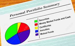 Personal Investment Portfolio With Pie Chart