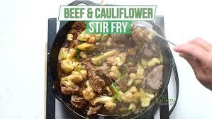 beef and cauliflower stir fry recipe