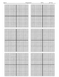 Individual Graph Paper Coordinate Graphing Paper