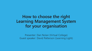 webinar how to choose the right learning management system for webinar how to choose the right learning management system for your organisation from virtual college business