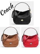 Coach 36762 Turnlock Hobo Satchel Pebble Leather True Red   eBay