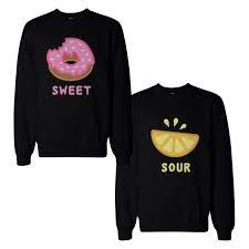 Cute Sweet and Sour Funny BFF Matching Couple SweatShirts for Best Friend |  Matching outfits best friend, Best friend hoodies, Bff outfits matching
