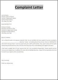 Formal Letters Of Complaint Complaints Letters Samples Scrumps