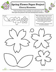 White Paper Flower Garland Paper Flower Garland Printable Worksheet Education Com