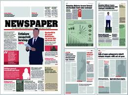 Newspaper Template Free Vector Download (12,848 Free Vector) For For ...
