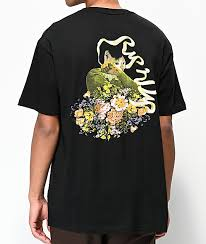 Flower Chart T Shirt Tops Language Of Flowers Chart Tee