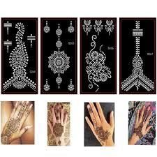 10 шт менди индийский трафареты для татуировок хной временные