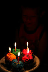 Birthday Cupcakes And Candles Free Stock Photo Public Domain Pictures