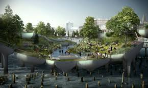 Small Picture Thomas Heatherwick plans 170m hovering miracle island for New