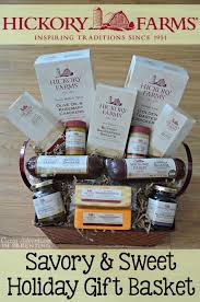 hickory farms savory and sweet holiday gift basket