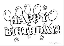 Happy Birthday Color Page Happy Birthday Coloring Pages Happy ...