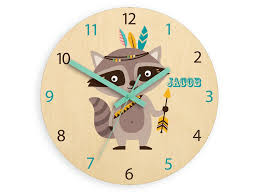 kids wall clock rac with