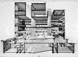 architecture building drawing. Interesting Drawing Art And Architecture Building Yale University New Haven Connecticut  Perspective Section Inside Building Drawing 1