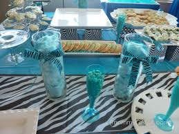 Turquoise Baby Shower Decorations Zebra Blue Unique Baby Shower Theme For Boys Honey Lime