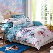 white shabby chic fl textured queen size kids bedding sets