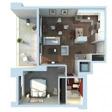 Small Apartment Floor Plans One Bedroom Medium Sized Apartment Block 1 Bed 1 Bath Sims House Ideas