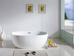 tropicana 60 x 30 white oval soaking bathtub by pacific collection