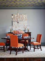 Orange And Black Bedroom Baby Nursery Lovable Trendy Dining Rooms Spunky Orange Chairs
