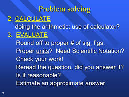 chapter problem solving in chemistry ppt 7 problem