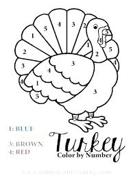 Turkey Page To Color Thanksgiving Coloring Turkey Happy Thanksgiving