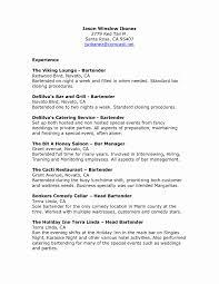 Bartending Resume Templates Magnificent 48 Elegant Bartender Cover Letter No Experience Sample Creative