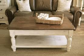 farmhouse coffee table and end table