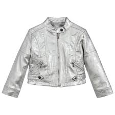 may silver biker leather jacket