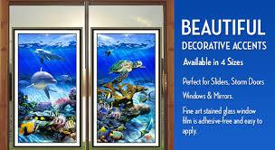 hi def window art stained glass under water scene window