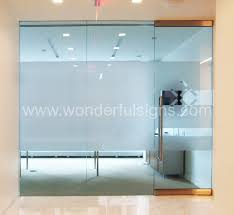 frosted office glass doors frosted logo for corporate office