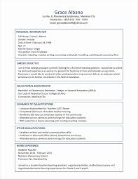 Sample Resume For Teachers Freshers Pdf Archives Resume Sample