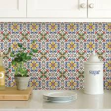 use l and stick tile in the kitchen to create an eye catching