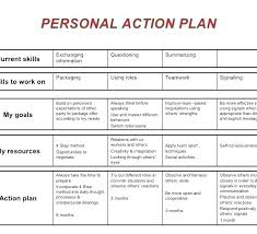 Sample Personal Action Plan Awesome Personal Development Action Plan Template Safety Example Sample