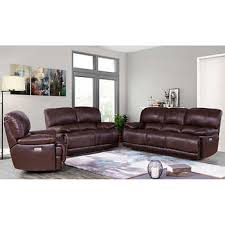 Leather sofa living room Decorating Sorrento 3piece Top Grain Leather Power Reclining Set Costco Wholesale Living Room Sets Costco