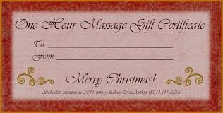 Gift Certificates Samples Cool Free Massage Gift Certificate Template Lcysne