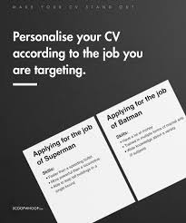 simple things you can do to make your cv stand out for that make sure your current phone number and email address are visible at first look you don t want them to be unable to contact you in case they want to